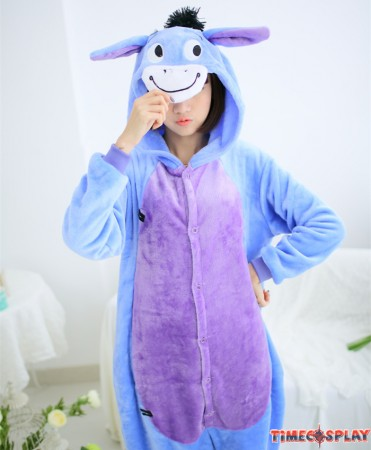 Donkey Onesies Pajamas Unisex Flannel Kigurumi Onesies Winter Animal Pajamas For Adults