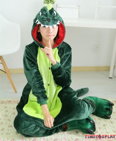 Dinosaur Onesies Pajamas Unisex Flannel Kigurumi Onesies Winter Animal Pajamas For Adults
