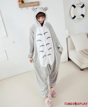 Totoro Onesies Pajamas Unisex Flannel Kigurumi Onesies Winter Animal Pajamas For Adults