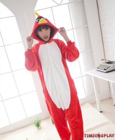 Birds Onesies Pajamas Unisex Flannel Kigurumi Onesies Winter Animal Pajamas For Adults