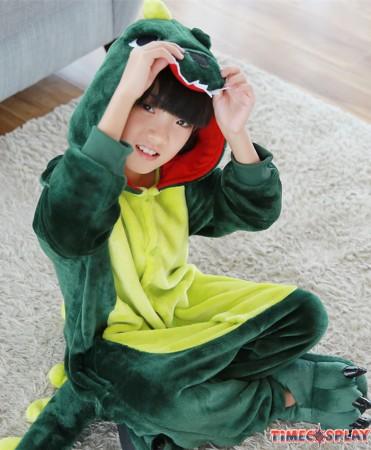 Dinosaur Onesies Pajamas Flannel Children Kigurumi Onesies Winter Animal Pajamas For Kids