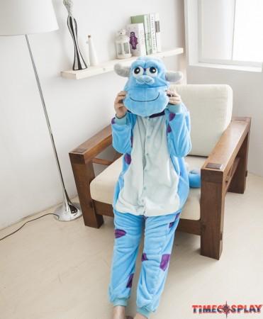 Monster Sulley Sullivan Onesies Pajamas Unisex Flannel Kigurumi Onesies Winter Animal Pajamas For Adults