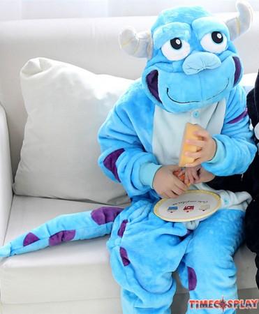 Monster Sulley Sullivan Onesies Pajamas Flannel Children Kigurumi Onesies Winter Animal Pajamas For Kids