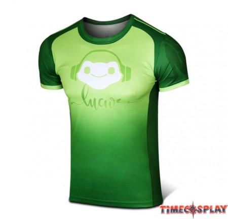 Timecosplay Overwatch Hero Lucio Cosplay Sport Tight 3D Tee Shirt