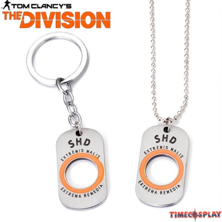 Tom Clancy's The Division Necklace Dog Tag Necklace Keychain