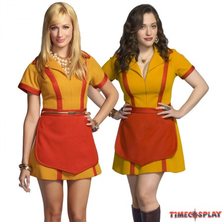 2 Broke Girl Max and Caroline Waitress Uniform Cosplay Fancy Dress Party Costume