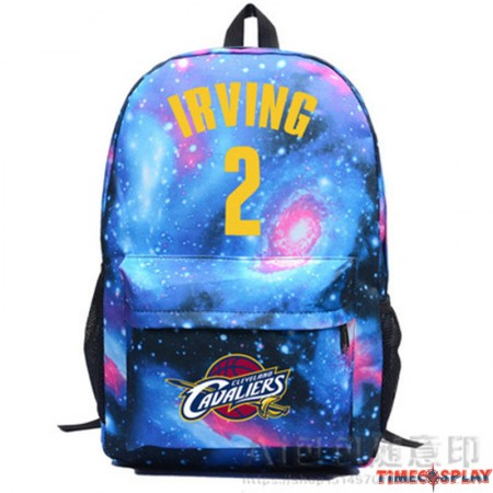 NBA Cleveland Cavaliers IRVING Kyrie Irving 2 Star Backpack School Bag