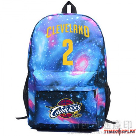 NBA Cleveland Cavaliers Kyrie Irving  IRVING 2 Star Backpack School Bag