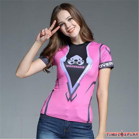 Timecosplay OW Overwatch Widowmaker Cosplay Short sleeve Tee-shirt