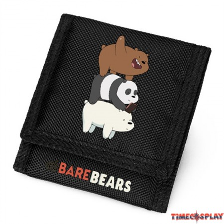 Timecosplay We bare bears Logo Oxford Fabric Trifold Wallet