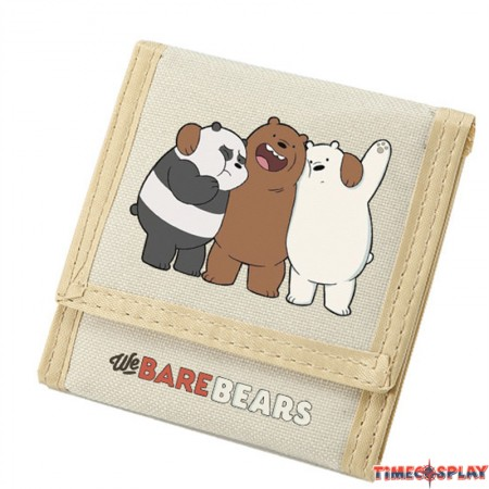Timecosplay We bare bears Oxford Fabric Trifold Wallet