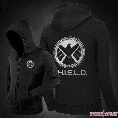 Agents of S.H.I.E.L.D.Logo Zipper Hoodies