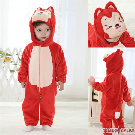 Ali Red Fox Animal Onesies Baby Pajamas Toddler Kigurumi For Babies