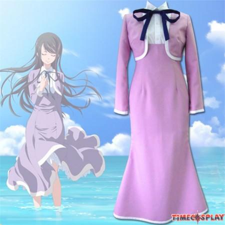 Amanchu! Cosplay Futaba Ooki Hikari Kohinata Ai Ninomiya Female School Uniform Costume- Version