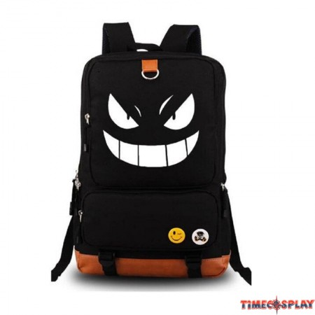Anime Pokemon Pikachu Luminous Backpack Shoulder School Bag