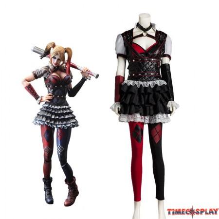 Batman Arkham Asylum City Harley Quinn Cosplay Outfit Costume