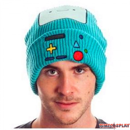 Timecosplay Adventure Time Beemo Beanie Hat Turquoise Cap