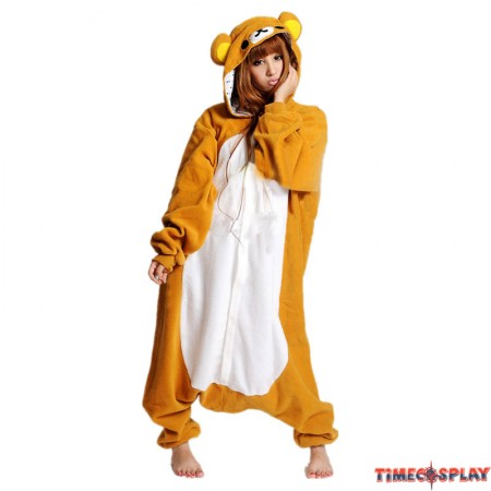 Brown Rilakkuma Bear Onesie Pajama for Adults