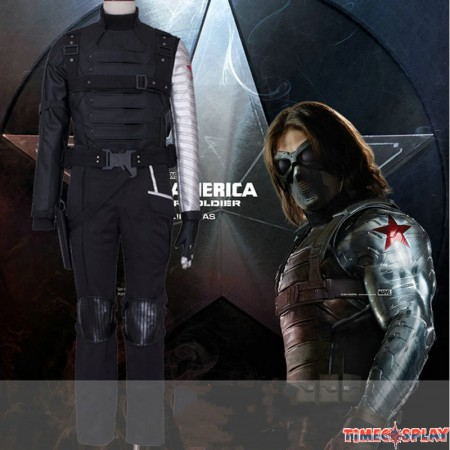 Captain America Winter Soldier Bucky Barnes Cosplay Costumes