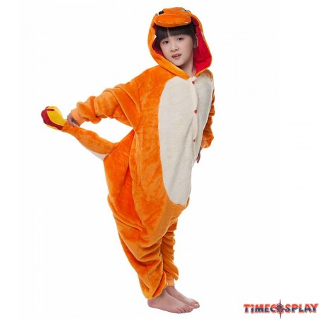 Childrens Halloween Charmander Onesie Kigurumi Onesie Animal Pajama Cosplay For Kids