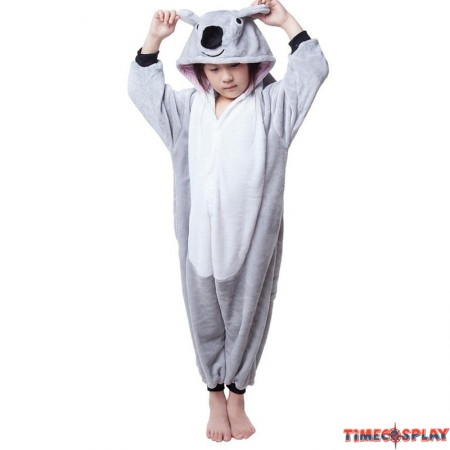 Childrens Halloween Costumes Grey Koala Onesie Kigurumi Onesie Animal Pajama Cosplay For Kids