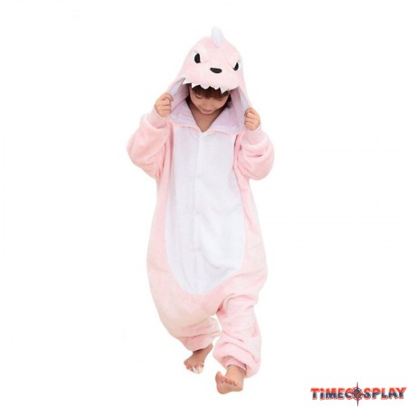 Childrens Halloween Costumes Pink Dinosaur Onesie Kigurumi Onesie Animal Pajama Cosplay For Kids