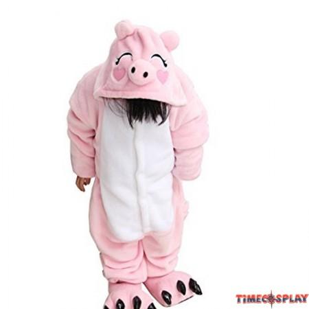 Childrens Halloween Costumes Pink Pig Onesie Kigurumi Onesie Animal Pajama Cosplay For Kids