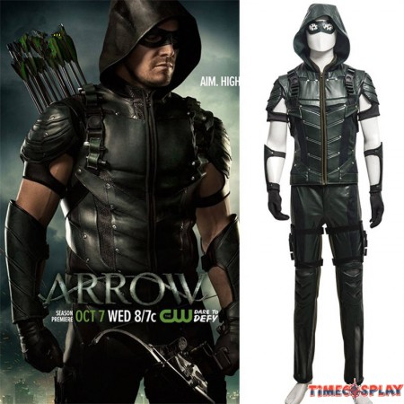 DC Comics Green Arrow Season 4 Oliver Queen Cosplay Outfit Costume