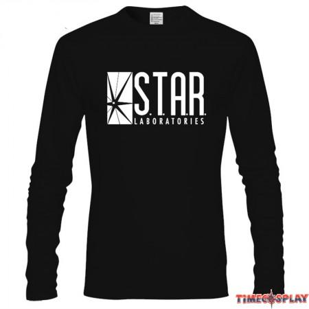DC Super Hero The Flash Star Labs Logo Long Tee Shirt  Sweatshirts