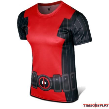 Deadpool Cosplay Sports T-shirt