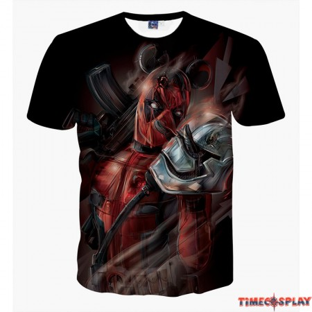 Deadpool Marvel 3D Print Cool T-shirt