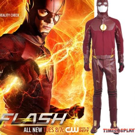 Detective Comics TV The Flash Season 2 Barry Cosplay Costume