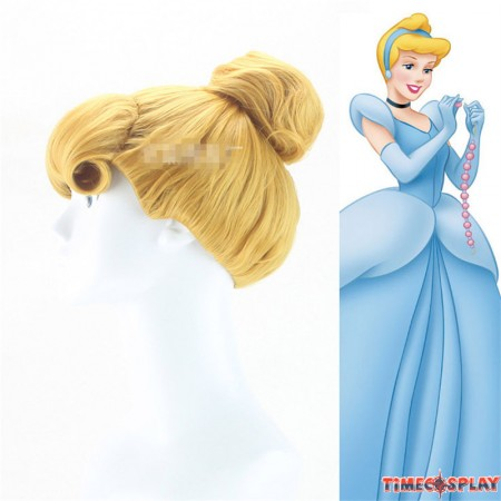Disney Animation Cinderella Princess Cosplay Wig