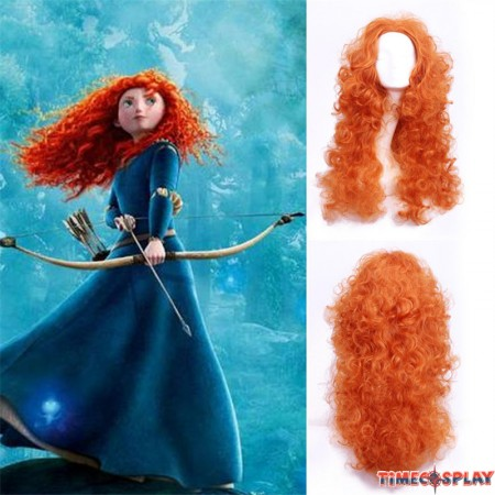 Disney Brave Princess Mei lida Cosplay Wigs