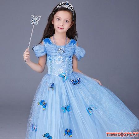 Disney Cinderella Princess For Kids Dress Cosplay Halloween