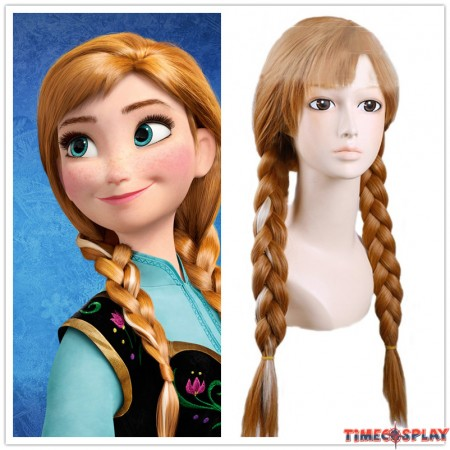 Frozen Anna Princess Adult Cosplay Wigs