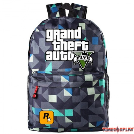 Game Theme Grand Theft Auto GTA Backpack Schoolbag Pupils Shoulders Bag