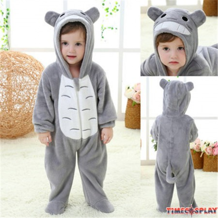 Grey Totoro Animal Onesies Baby Pajamas Toddler Kigurumi For Babies