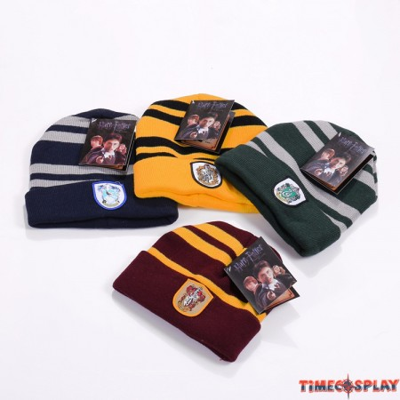 Harry Potter Gryffindor Hufflepuff Ravenclaw Slytherin Badge Beanies Hats