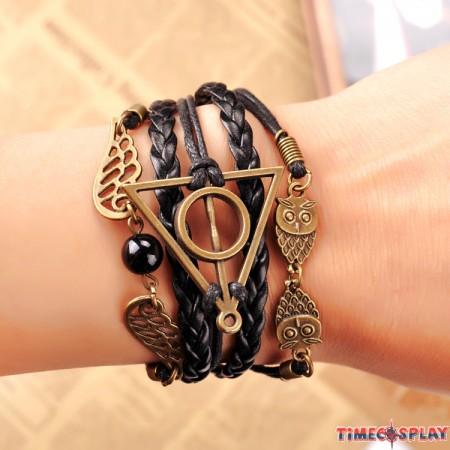 Harry Potter Snitch OWL Golden Bracelet