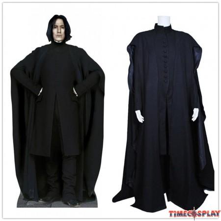 Harry Potter Cosplay Severus Snape Coat Costume Black