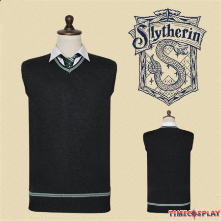 Harry Potter Slytherion Vest Sweater School Uniform
