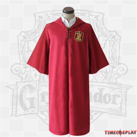 Harry Potter Gryffindor Robe Cloak Quidditch Cosplay