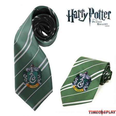 Harry Potter Slytherin Silk Tie
