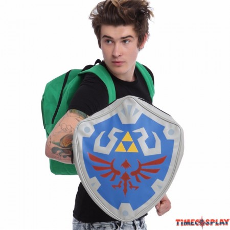 Legend of Zelda Links Shield 3D Cosplay Backpack School Bag