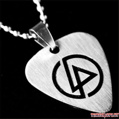 Linkin Park Titanium Steel Metal Guitar Paddles Necklace