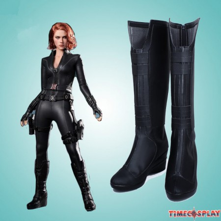 Marvel Captain America Black Widow Shoes Cosplay Halloween Boots