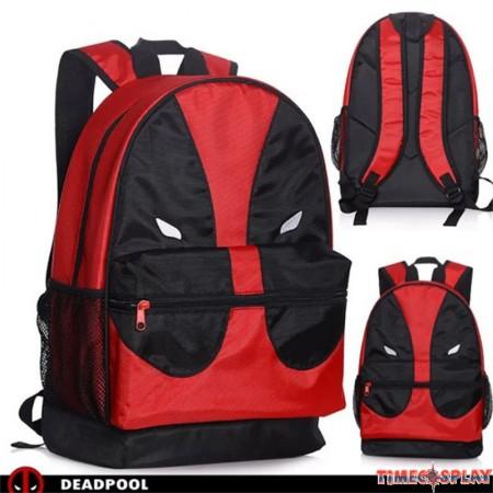 Marvel Deadpool Face Mesh Pocket Backpack School Book Bag
