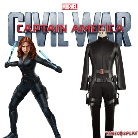 Marvels The Avengers Black Widow Cosplay Costumes