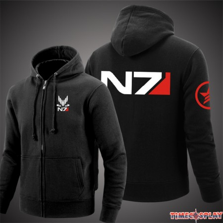 Mass Effect N7 Cosplay Zipper Hoodies